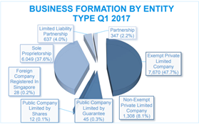 Business Formation by Company Type Q1 2017